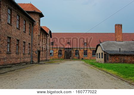 Dormitory In Auschwitz Concentration Camp Poland