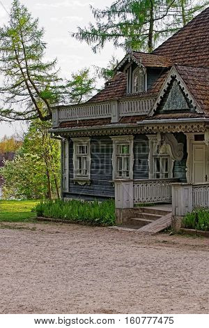 Old Wooden House In Bialowieza National Park Poland