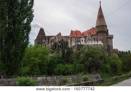 Medieval Corvin castle Hunedoara Transylvania Romania Europe
