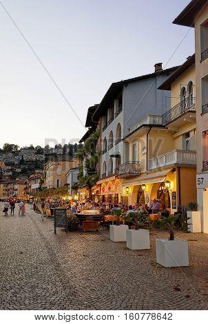 Cafes And Restaurants In Ascona Expensive Resort In Switzerland