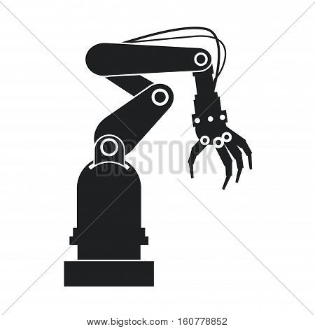 silhouette industrial robot hand tool vector illustration eps 10