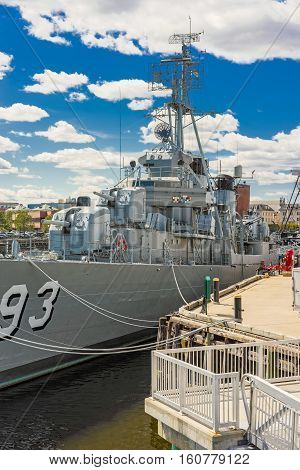 Fletcher Class Destroyer Uss Cassin Young Navy Yard In Boston