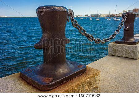 Mooring Bollards Of Boston Wharf