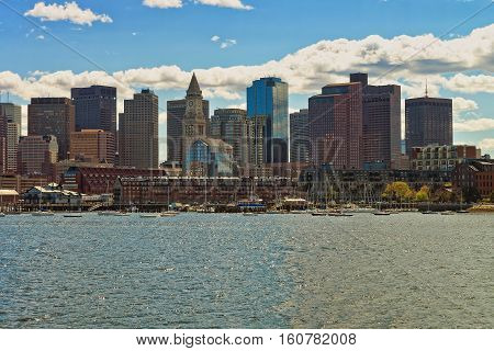 Tallest Buildings Of Boston Near The River