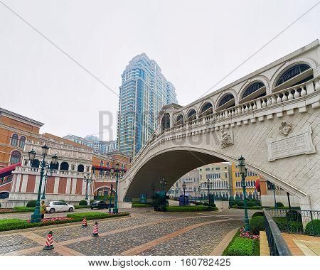 Bridge At Venetian Macao Casino And Hotel Luxury Resort