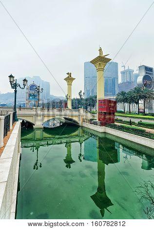 City Of Dreams And Canal Of Venetian Macau Casino Hotel