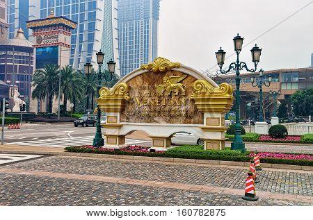 Detail Of Venetian Macau Casino And Hotel
