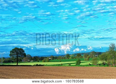 Landscape Of Brittany In France