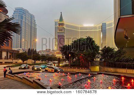 Venetian Macao Casino And Hotel Luxury Resort Macau Dusk
