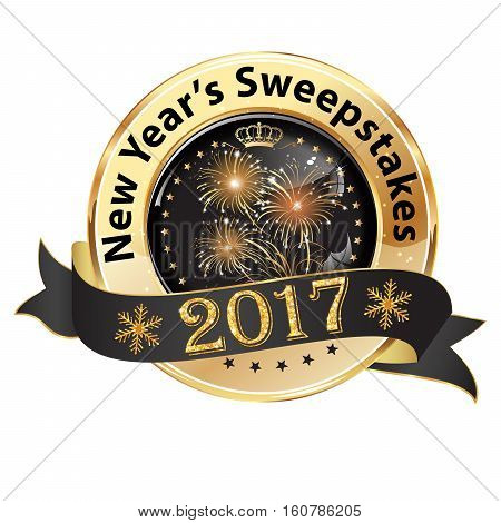 New Year's Sweepstakes 2017 - luxurious ribbon for gambling businesses.