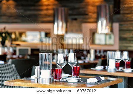 Typical Restaurant Terrace Of Switzerland