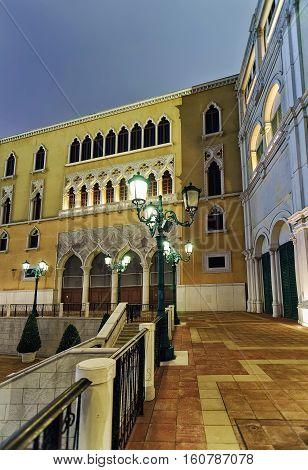 Waterfront And Venetian Macau Casino And Luxury Resort Of Macao