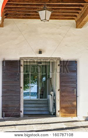 Window Of House At Expensive Resort In Ascona In Swiss