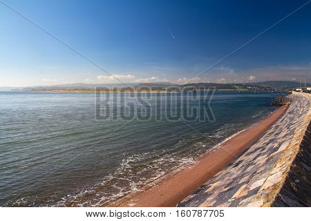 beautiful view of the estuary Exe river. Exmouth. Devon. England