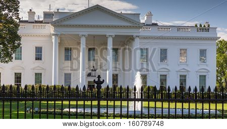 The White House in Washington DC home of the President