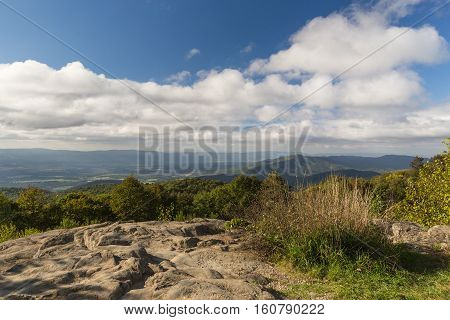An overlook in the Shenandoah National Park