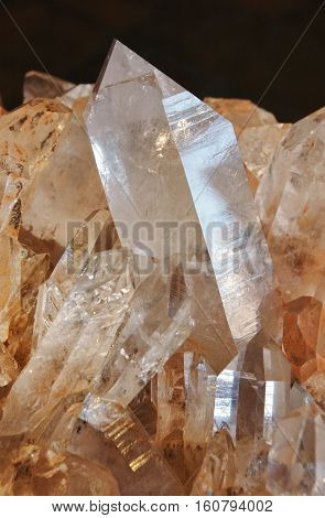 Quartz Crystals in matrix, a nice mineral specimen