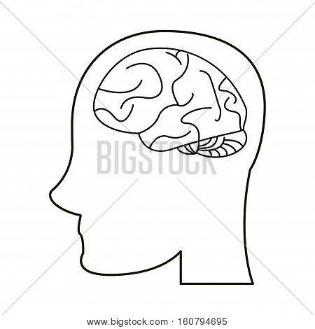profile head brain idea imagination outline vector illustration eps 10
