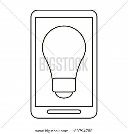 smartphone bulb idea imagination outline vector illustration eps 10