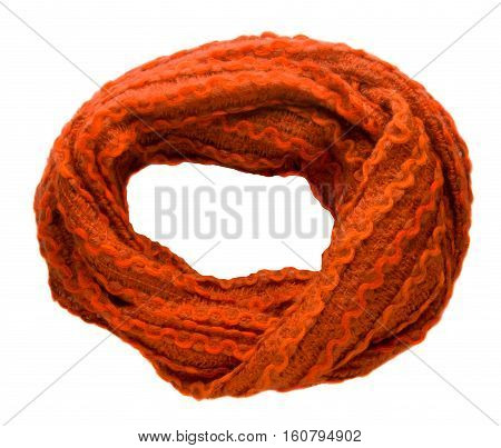 Scarf Isolated On White Background.scarf  Top View .ginger Scarf