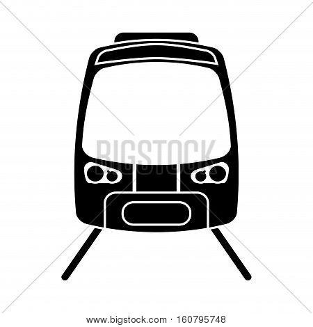 silhouette high speed train passenger rail road vector illustration eps 10