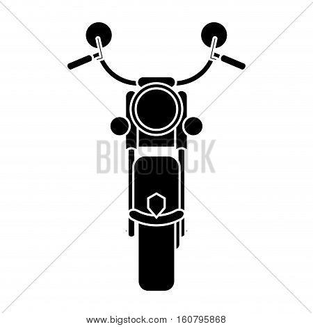silhouette motorcyle speed transport steel vector illustration eps 10