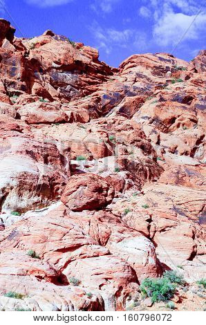 Rock formation in Red Rock Canyon just outside of Las Vegas Nevada