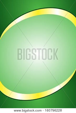 A4 Poster Background Template. Green and Gold Color ( Header and Footer )