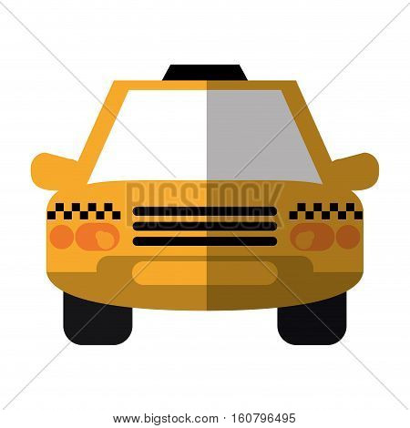 taxi cab car public transport shadow vector illustration eps 10