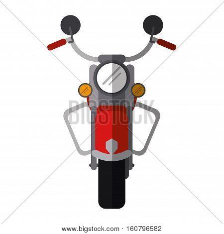 red motorcyle speed transport steel shadow vector illustration eps 10