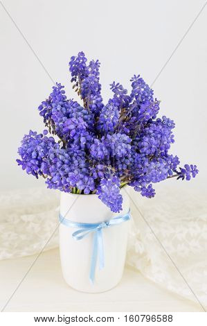 Bluebell Flowers Bouquet In A Vase