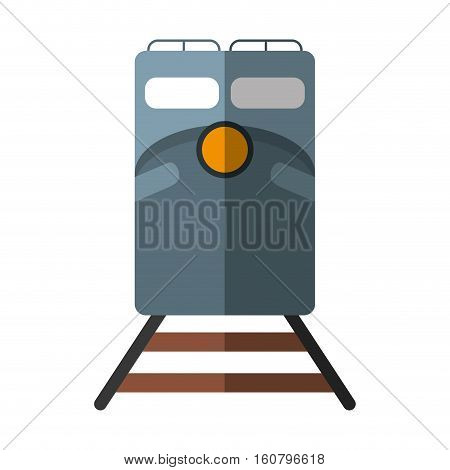 train rail road mass transit shadow vector illustration eps 10