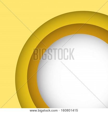 Abstract yellow background with copy space, stock vector