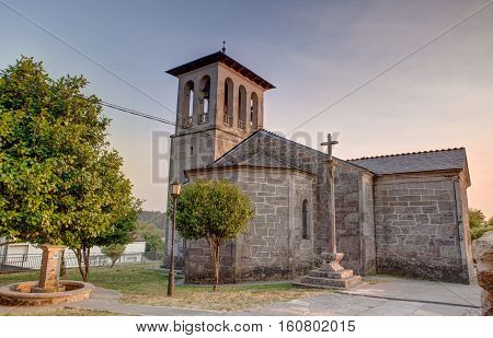 View of the Church of San Tirso Palas De Rey