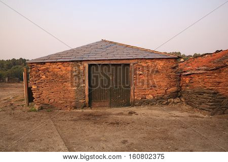 Old rural house building with stone Spain