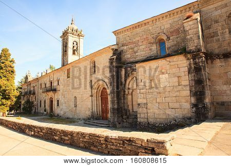 View of the convento de la Magdalena in Sarria Spain