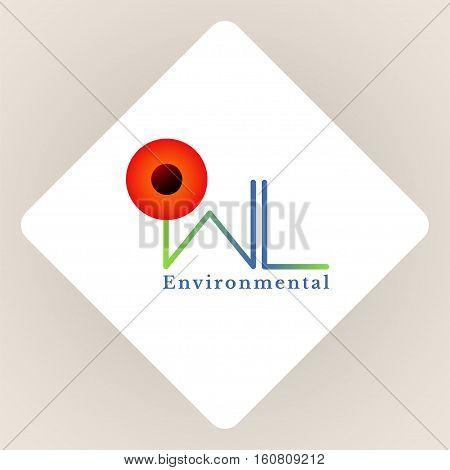 Owl logo. A symbol of environmental protection. Vector logotype template.