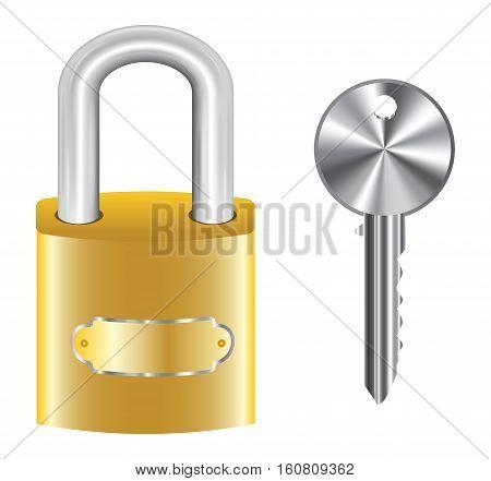 golden master key lock and steel key