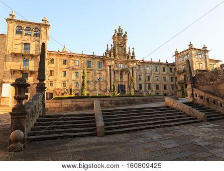View of the Monastery of San Martin Pinario Santiago the Compostela