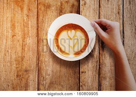 Black coffee in coffee shop and feeling bitter because no sugar, Life style of people work in the city or office which feeling fresh when drinking the coffee.