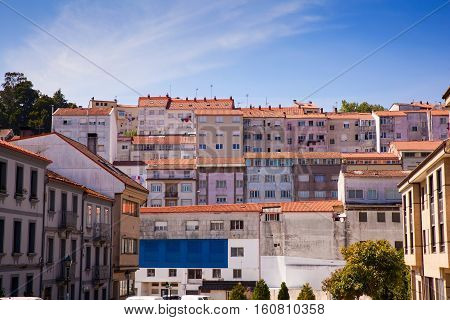 View of neighbourhood in Santiago de Compostela Spain