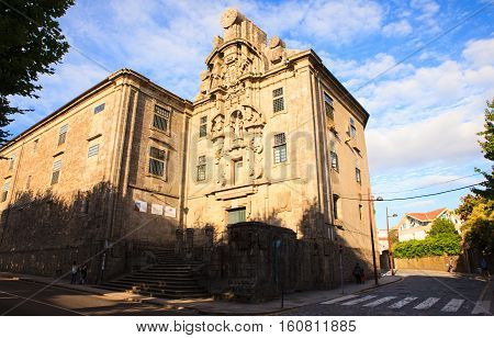 SANTIAGO SPAIN - AUGUST 17: View of Santa Clara convent on August 17 2016