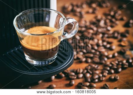 Espresso Coffee And Espresso Machine