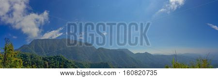 Panorama of mountains Phu soi dow in thailand