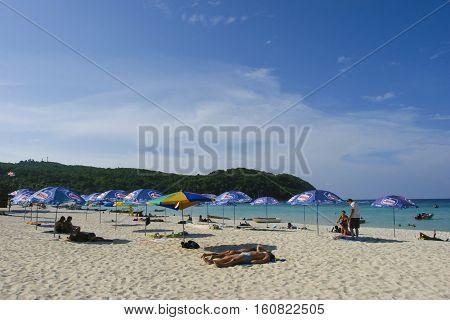 TERENGGANU MALAYSIA - JUNE 17 2008 : Perhentian Kecil Island beach Terengganu Malaysia.