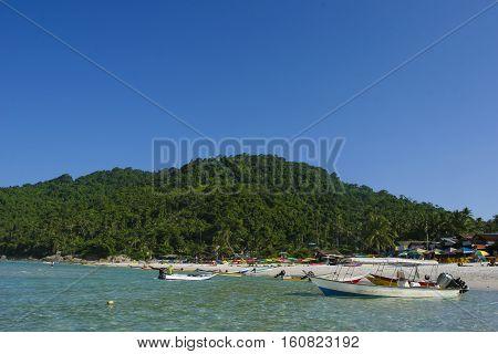 Beautiful scene at Perhentian Kecil Island beach Terengganu Malaysia.