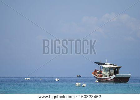 Fisherman boat at Perhentian Island Terengganu Malaysia.