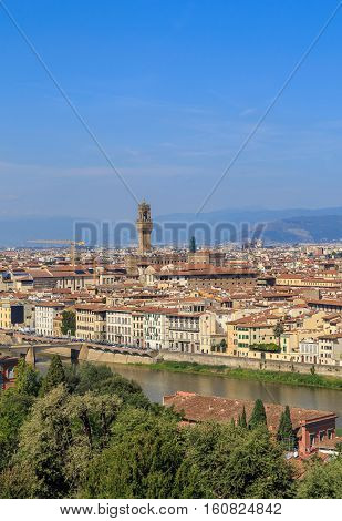 View Of Florence's Historic Center, Vertical Frame