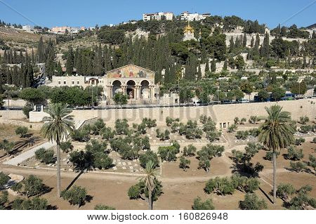 The holy places of the three religions in Israel - Kidron Valley and the Mount of Olives
