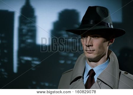Handsome Fashionable Young Detective Urban Gentleman